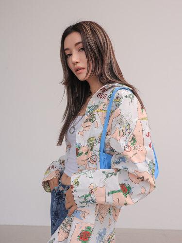 French-Themed Print Shirt