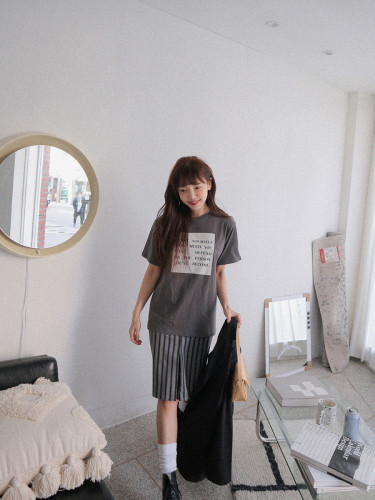 Quote Print Cotton T-Shirt
