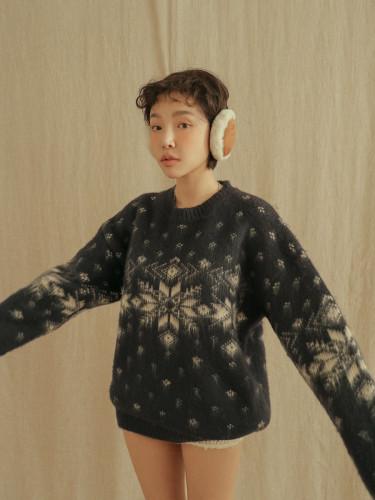 Snowflake Detail Sweater