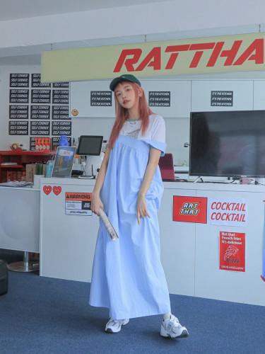 Square Neck Long Sleeveless Dress