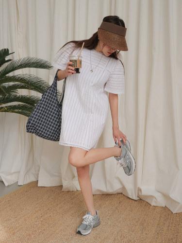 Lace Inset Pintuck Dress
