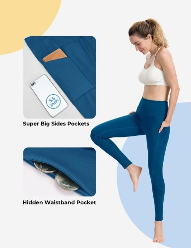 Classic Blue Yoga pants with pockets