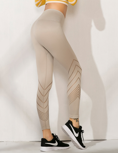 Striped High-waist Yoga Pant