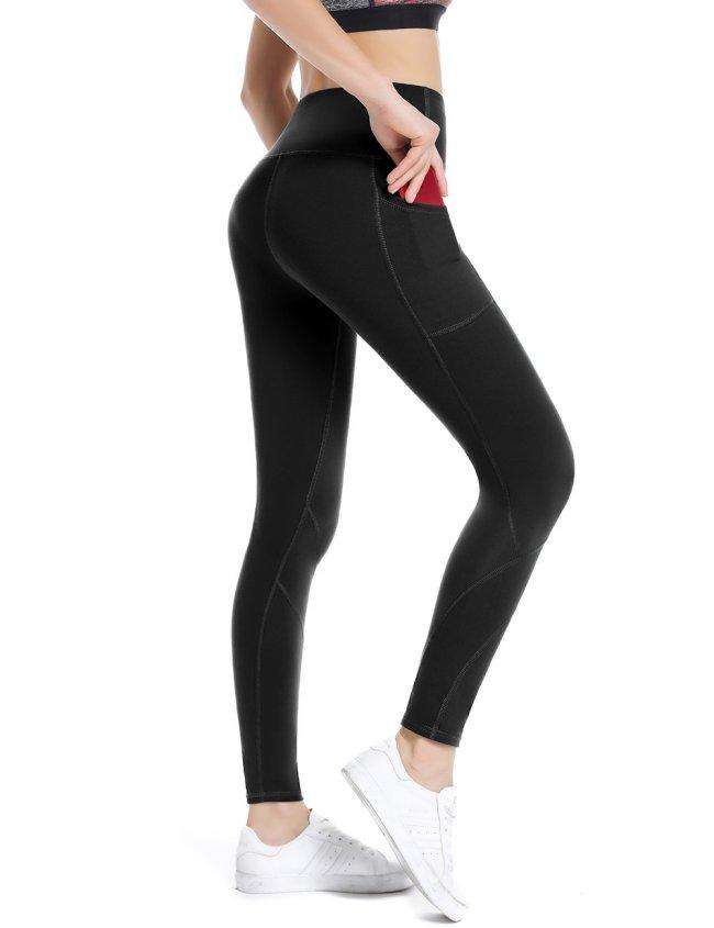 High waisted full length yoga pants