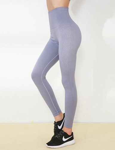 Gray Blue full length yoga pants