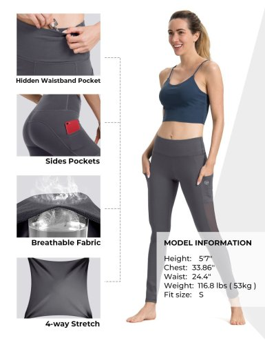 Hot Fashion Mesh Design Yoga Pants