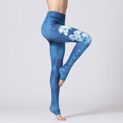Printed Flower Yoga Pants
