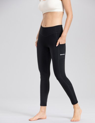 Black Striped Yoga Pants
