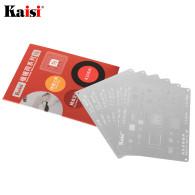 Kaisi 0.12mm BGA Reballing Stencil Kit Set Solder Template for iPhone CPU A8 A9 A10 A11 A12 A13 11 Pro Max XS XR X 8 8P 7P 6S 6