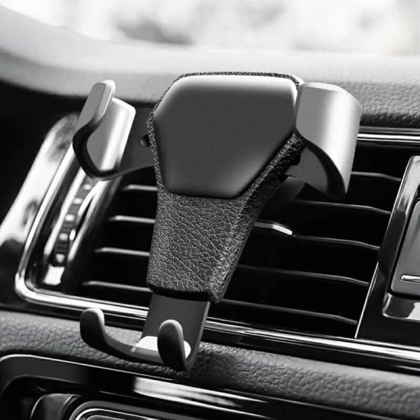 Gravity Auto Phone Holder in Car Air Vent Clip Mount Mobile Phone Holder CellPhone Stand Support For iPhone For Samsung
