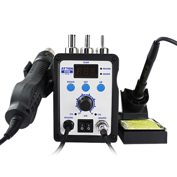 ATTEN AT8586 2-in-1 Air Soldering Station SMD Hot air rework station Digital Display