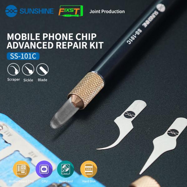 SUNSHINE SS-101C Multifunctional CPU IC Knife Remover For Mobile Phone Repair Xiaomi iPhone Motherboard BGA Glue Scraper