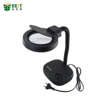 BEST-208L Hot Selling 5X 10X 36pcs LED Lights Portable Desktop Magnifying Lamp