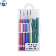 WYLIE WL-003 For All IPhone Models Magnetic Phone Repair Carbon Steel Precision Screwdriver Set