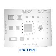 Amaoe BGA Reballing Stencil Kit Tin Mesh Solder Template for iPad 5 6 Mini 1 2 3 4 Pro 9.7 10.5 12.9 Thickness 0.12mm