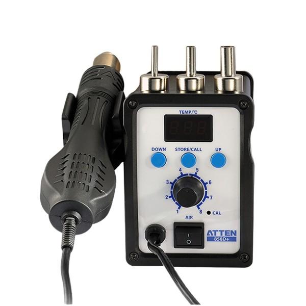 ATTEN AT858D+ 700W Rework Fan Type Pump 220V LED Digital Solder Station Hot Air Gun for BGA IC Desoldering