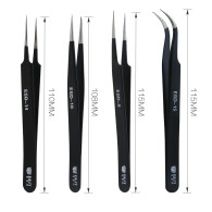 Hand Tool Pincers Electronics Forceps Curved Straight Anti-Static Stainless Steel Tweezers Set