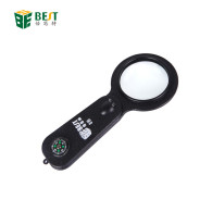 Top Handheld Reading 5X Magnifier Hand Held 25mm Mini Pocket Children Very small Magnifying Glass