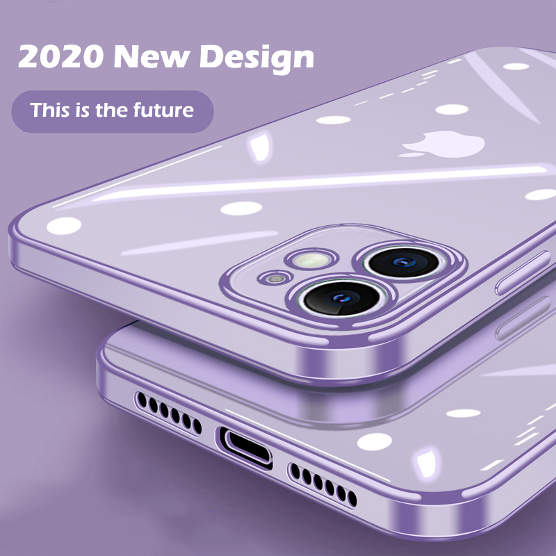 Square Soft Case For iPhone 11 Pro Max 12 Protection Case For iPhone XS Max XR X 7 8 6 6s Plus SE 2020 Clear Back Cover