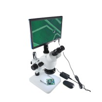 BEST LCD Continuous Zoom Trinocular Stereo Microscope HD VGA Camera Big Workbench Phone Repair Soldering Tools