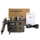 ATTEN AT850D Hot Air Rework Station with accurate and stable temperature, ESD safe, suitable for QFP, PLCC, SOP, BGA, etc