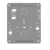 Wylie IP FACE ID LCD Screen Cable Tin Template For iPhone Reballing Stencil 0.12mm