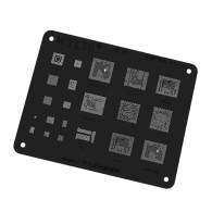 Wylie WL-56 Black MSM8937 MSM8953 MSM8916 MSM8940 BGA153 BGA221 Power Wifi Flash Nand CPU BGA Stencil Reballing Template