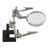 Helping Hand Soldering Stand Magnifying Glass Auxiliary Clamp Clip Magnifier Welding Rework Repair Solder Iron Holder