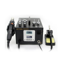 ATTEN AT8502D digital display hot air gun constant temperature lead-free soldering iron two-in-one desoldering station