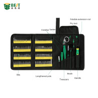 BEST 117 Electrical Maintenance Opening Tools Cell Mobile Phone Laptop Repair Tool Kit 126 in 1 mobile phone repairing tools