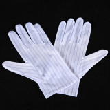 Disposable polyester safety inspection Anti-Stati gloves can be customized