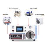4 in 1 Vacuum Oca Laminating For flat Curved Screen Built-in vaccum pump and air compressor Bubble Lcd Repair Machine Remover