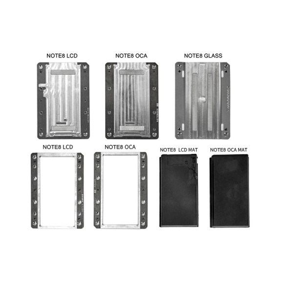 Special glass bubble-free LCD screen frame laminating moulds laminator for samsung