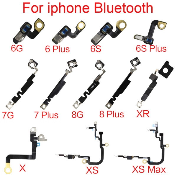 Bluetooth Signal For iPhone 5G 5S 5C 6G 6S 6SP 7G 7 8Plus X XR XS MAX NFC Camera Clip Bluetooth Signal Antenna Flex Cable Replacement Patrs