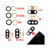 Rear Camera Lens 3M  for iPhone X XR XS MAX 8 4.7  6 6S 7 8Plus 5.5  Rear Camera Cover Lens 3M Sticker Holder Parts