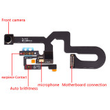 Front Camera for iPhone 6 6G 6S 6Plus Plus 7 8 plus x xr  xsmax 11 pro max Light Sensor Proximity Facing Small Cam Flex Cable Replacement Parts
