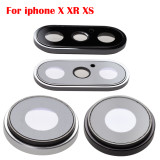 Rear Back Camera Glass Lens Ring Bezel Cover With Fram Holder For iPhone 6 6S 7 8 Plus 4.7  &5.5 X series