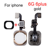 Brand Button Cable Assembly For All Model iPhone 5S 4.7 & 6 6s Plus 5.5 inch Home Flex Replacement Parts