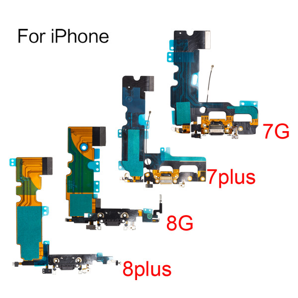 For All Model iphone 7G 8G 6SP 7plus 8plus X XR XS MAX USB Charging Port Dock Connector Flex Cable Microphone Repair Part