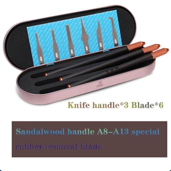 HHT G6 Professional blades 6pcs set for removing glue forA12 A11 A10 A9 A8 CPU, phone pad repairing tools