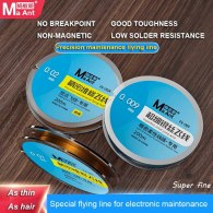 MaAnt 200M Superfine Silver Jump Wire No Breakpoint Flying Line For iPhone Motherboard PCB Chip Fingerprint Welding Point Repair