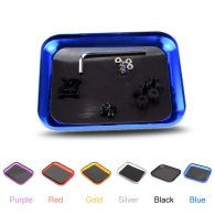 Aluminum Alloy Magnetic Tray Storage Box Container Ring Electronic Parts Screw Beads Organizer  Case