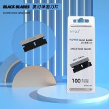 WYLIE WL-009 100Pcs Black Single Edge Blade Durable Sharp Razor For iPhone Middle Frame Back Cover Rear Glass Scraping Pry Tools