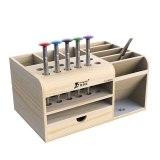 Tool Guide Wooden Storage Box Screwdriver Tweezers Holder Mobile Phone Repair Desktop Reception Tool Parts Box