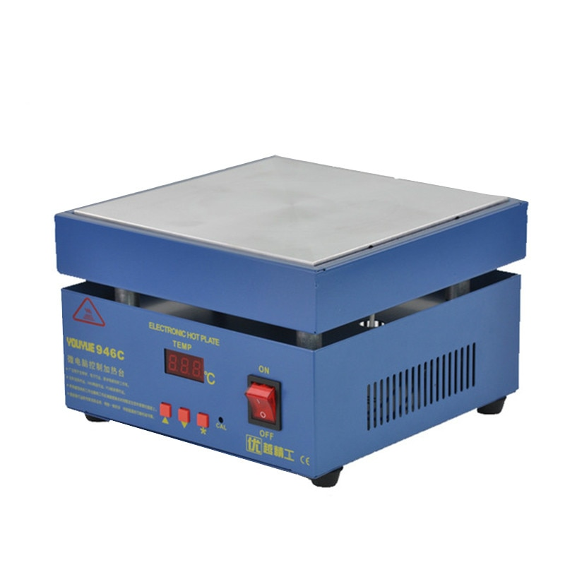 946C Electronic Hot Plate Preheat LCD Digital Display Preheating Station for PCB SMD heating phone LCD touch screen separate