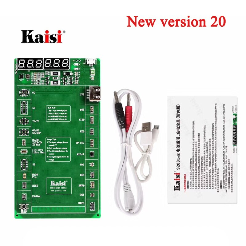 K-9220 version 20 Battery Activation Charge Board For iPad iPhone Huawei OPPO Android Phone Intelligent Quick Charging Tester