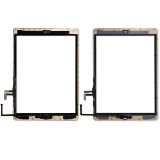 Touch Screen Glass Digitizer with Part Home Button, Camera Plate, Sticker for Apple iPad 2 3 4 5 ipad mini 2 3 4 ipad 2017