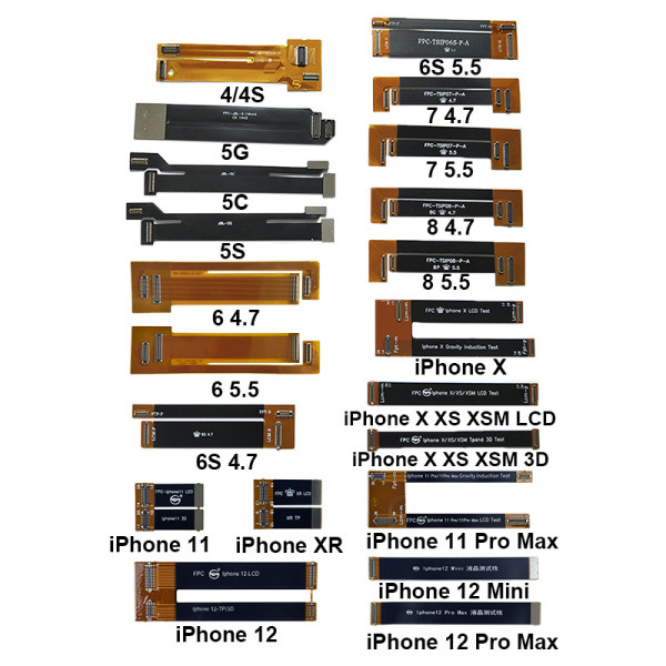 LCD screen Testing flex cable 3D Touch Screen& LCD Display Test Extended Flex Cable For iPhone 11 12 Pro X Xs Max XR 6S 7 8 8P Digitizer Tester Ribbon Cable