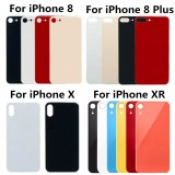 Back Glass Battery Cover For iPhone 12 11 8 PLUS X XR XS Xsmax SE2 Big Hole Rear Door Housing(Without Logo)