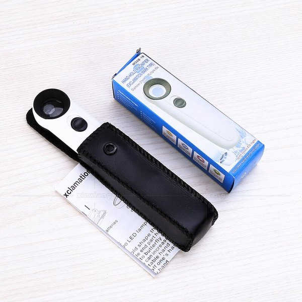 40X Hd Handheld Magnifying Glass With LED Light Source For Mobile Phone Maintenance Watch repair